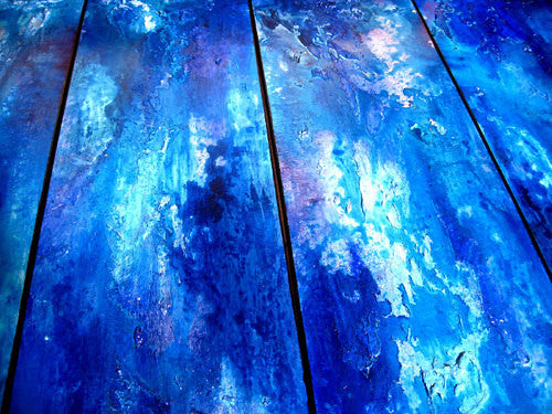 ORIGINAL Abstract Painting Textured Contemporary Blue Fine Art by Henry Parsinia Large48x24 - New Wave Art Gallery