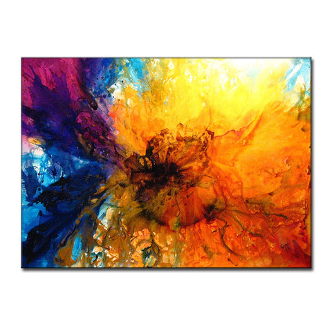 Abstract Art Huge Abstract Painting Original Abstract painting Contemporary Modern Fine Art Colorful Canvas Art by Henry Parsinia 60X44 - New Wave Art Gallery