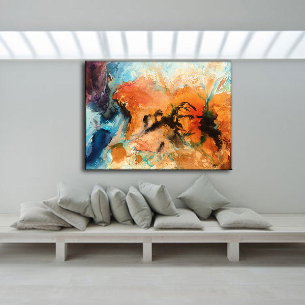 Abstract Art Huge Abstract Painting Original Abstract painting Contemporary Modern Fine Art Colorful Canvas Art by Henry Parsinia 48x36 - New Wave Art Gallery