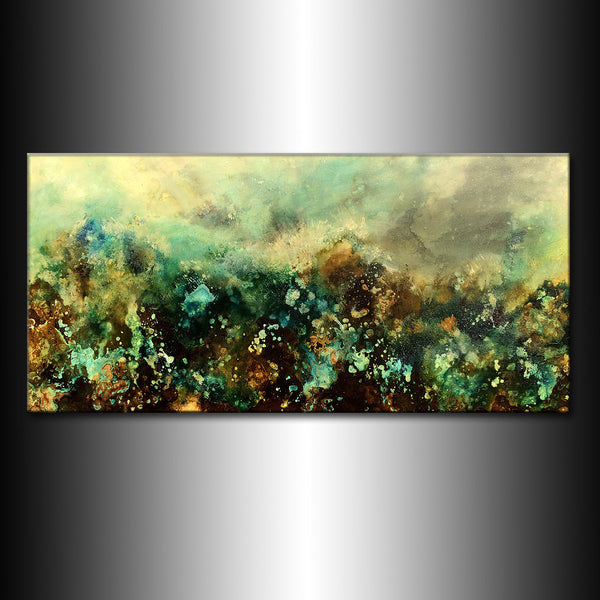 Original Contemporary Modern Abstract Painting On Canvas By Henry Parsinia 48 x24 - New Wave Art Gallery