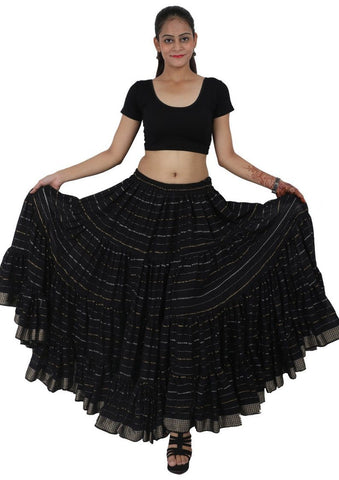 Jaipur Rajasthan ATS 25 Yard Gypsy Tribal Lurex Skirt