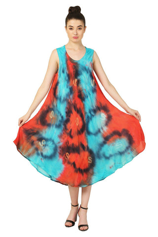 Pack of Wevez Sleeveless Women Long Tie Dye Dress