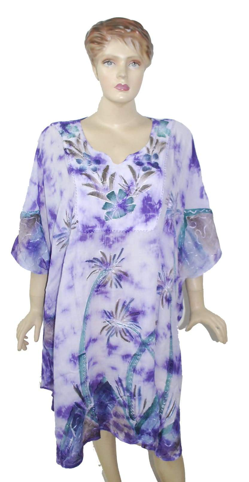 Roxy Floral Windy Fly Away Women Beach Kaftan / Ponchos Pack