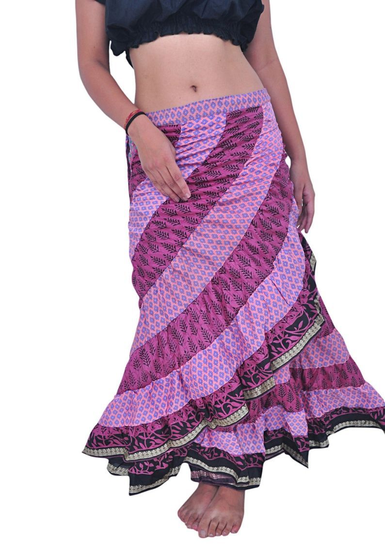 Saree Tribal Wrap Skirt