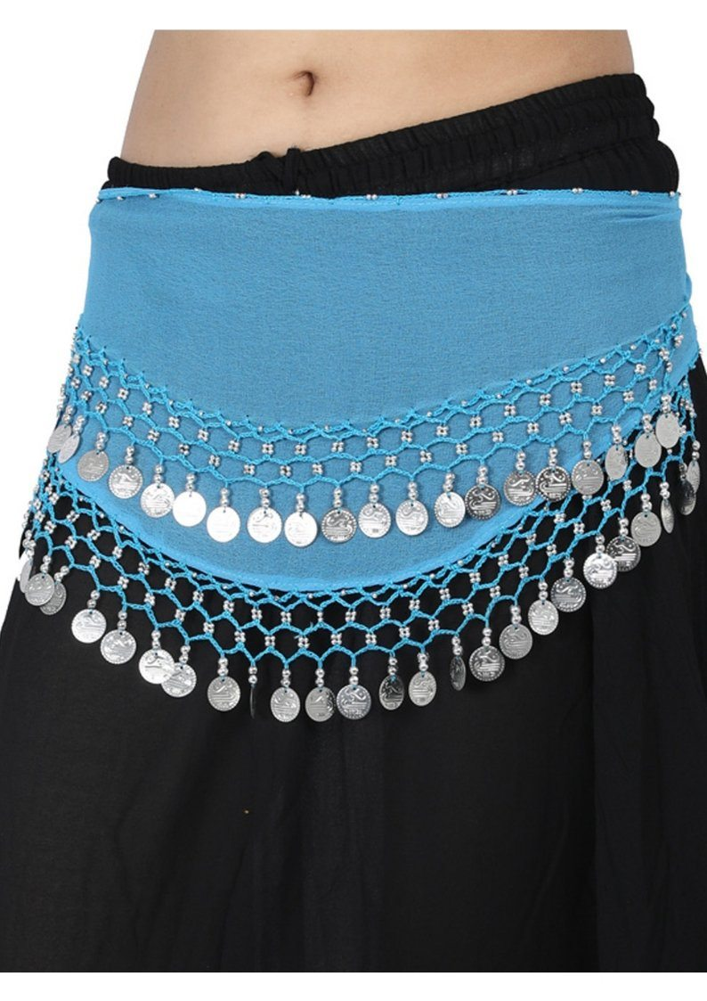 Wevez Belly Dance Hip Scarf with Coins- Assorted , Pack Of 10