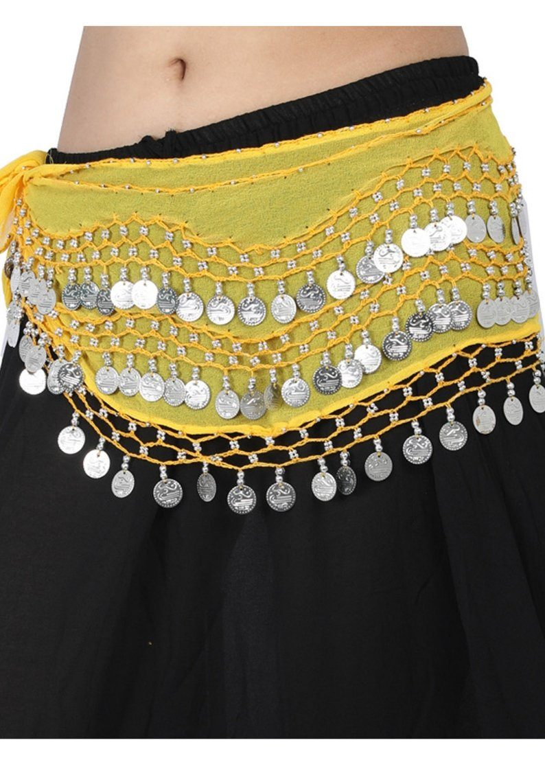 Wevez Belly Dancer Costume Halloween Waist Scarves- Assorted, Pack Of 10