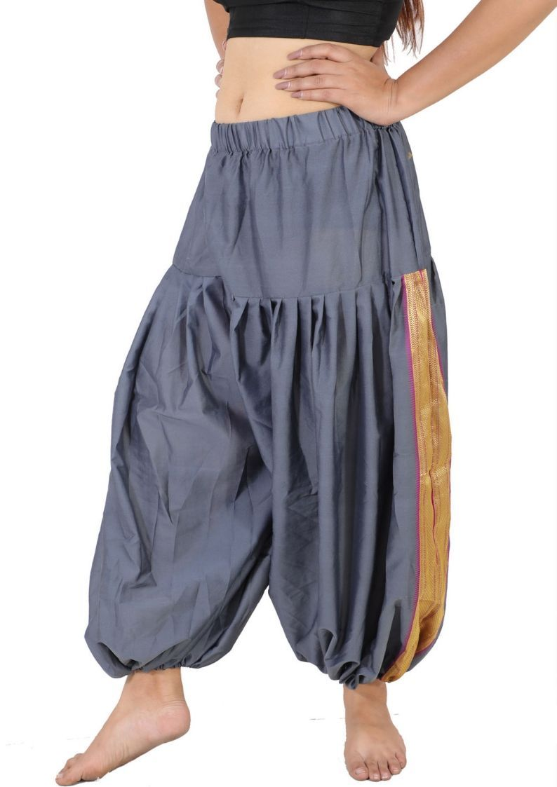 Wevez Indian Boho Art Silk Harem Pants Trousers