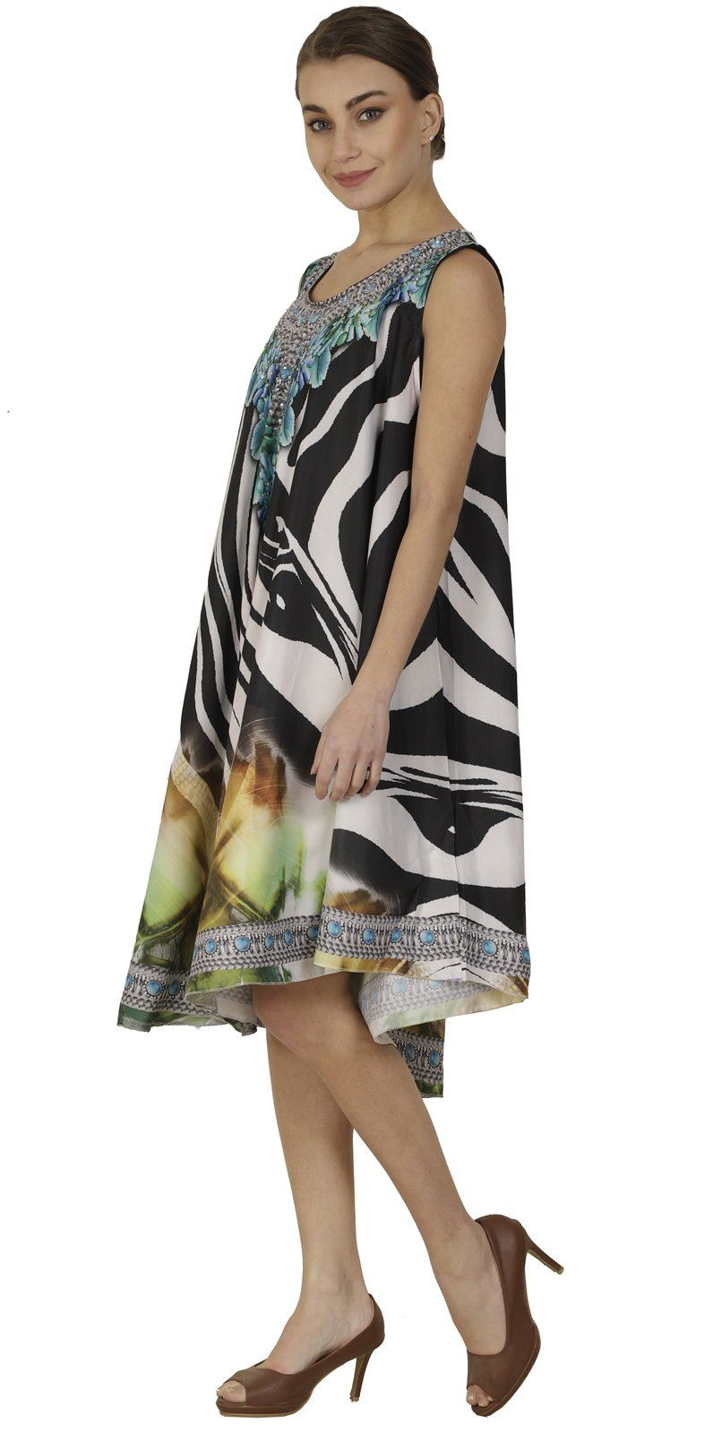 Wevez Pack of 03 Knee Length Digitally Printed Dresses