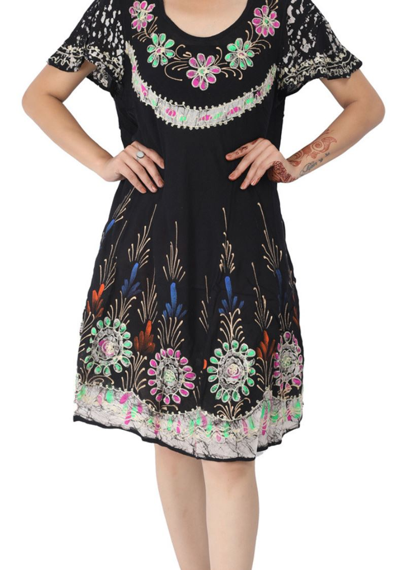 Wevez pack of Batik Embroidered Sundresses For Women