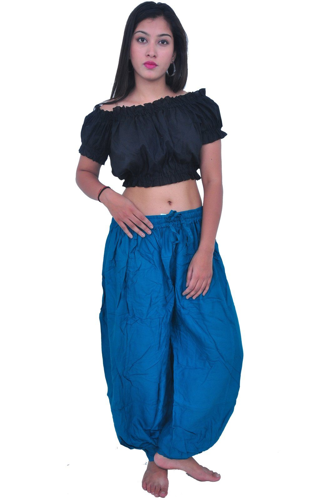 Wevez Plus size Women Summer Plain Harem Pants