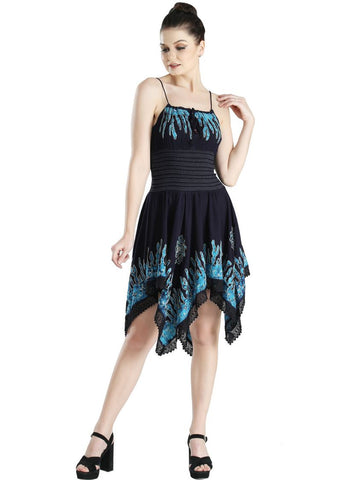 Wevez Turquoise Sleeveless Evening Cocktail Party Dress