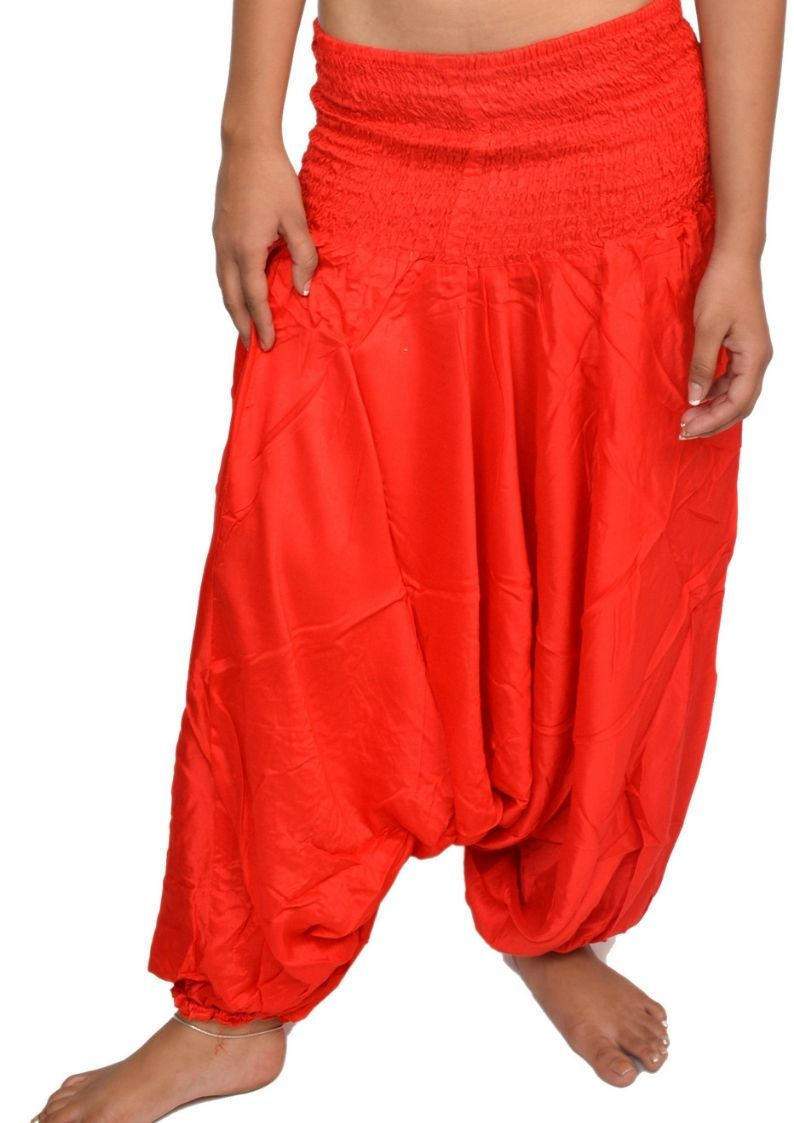 Wevez Women Summer Plain Harem Pants