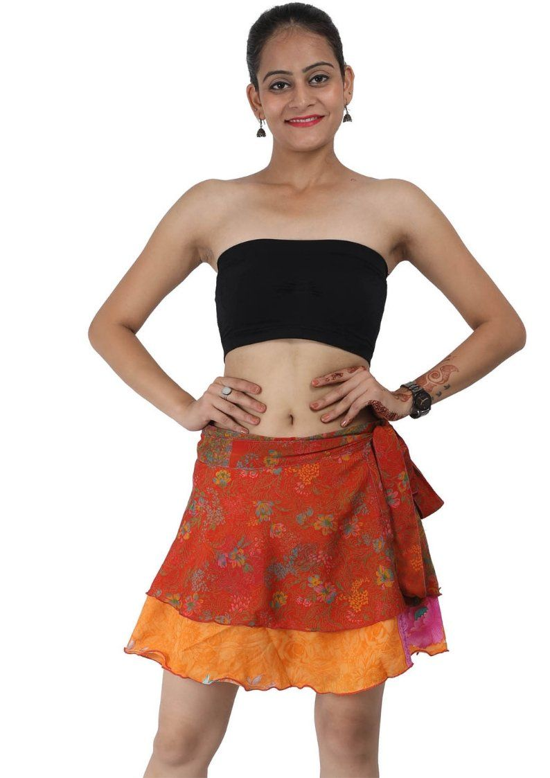 Wevez Women's Beachwear Sari Skirt, Mini, Assorted