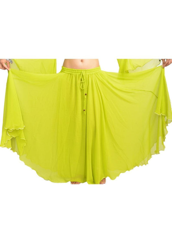 Wevez Women's of Belly Dance Chiffon/Georgette Skirts, One Size