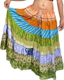 Wevez Women's Tribal Style 7-Layer Skirt, One Size, Assorted