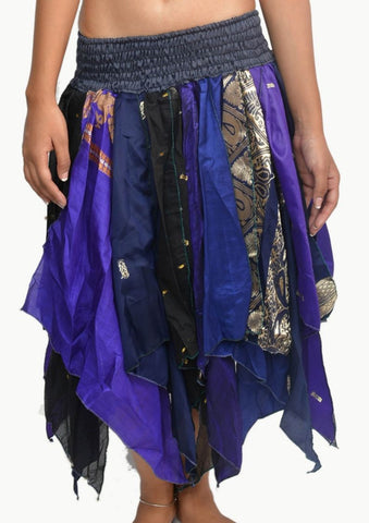 Wevez® Women's Tribal Leaves Style Skirt, One Size, Assorted