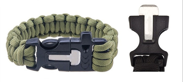 4 in 1 Survival Paracord Wristband