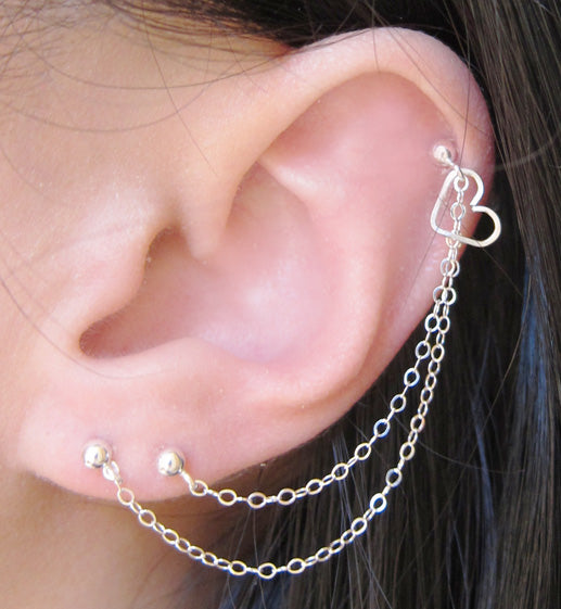 Triple Piercing Earrings