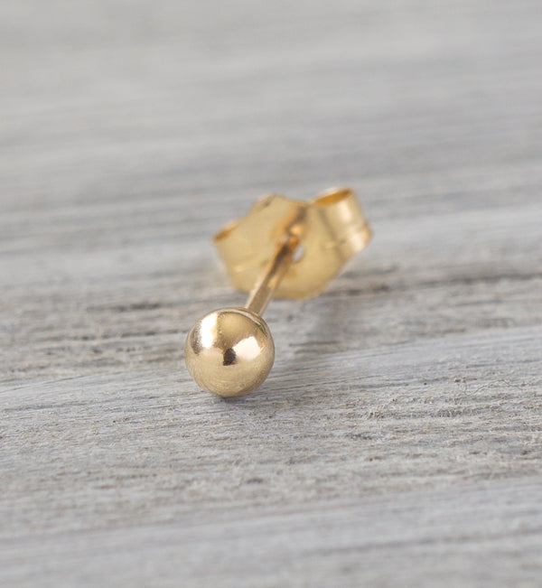 14k Gold Filled 3mm Ball Single Stud