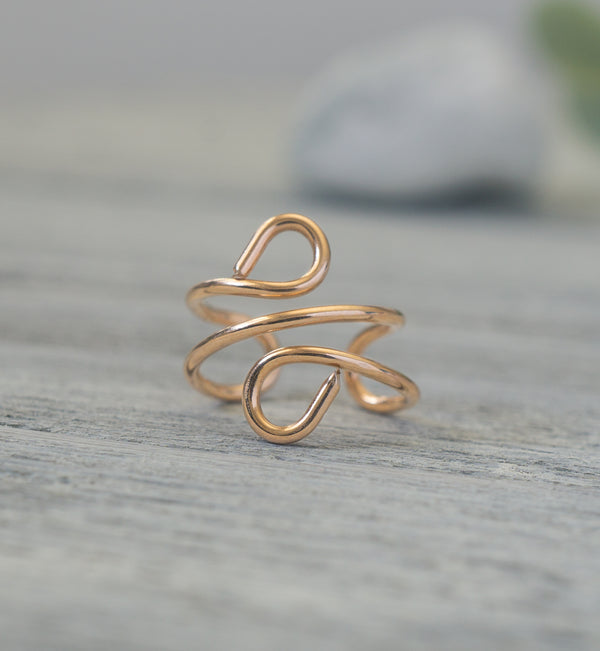 14k Rose Gold Filled Ear Cuff Earring