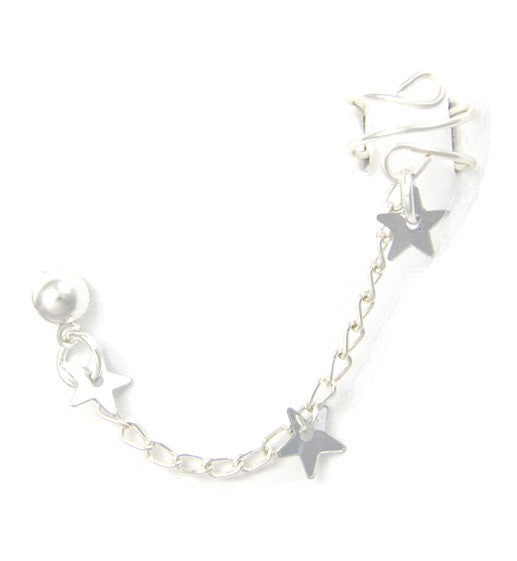 Triple Star Cuff Earring