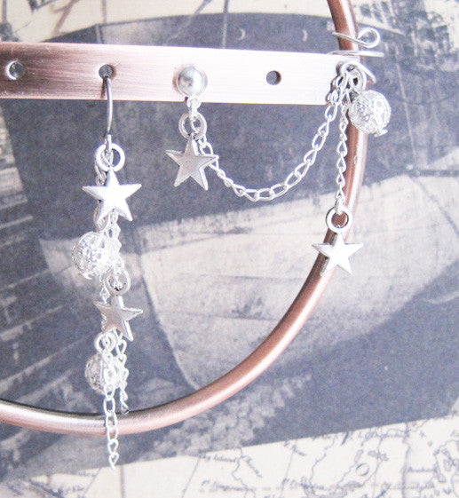 Star and Filigree Cuff Earring