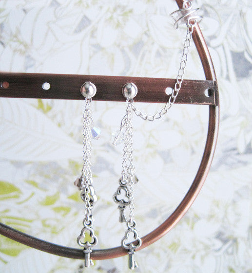 Keys Dangle Cuff Earring