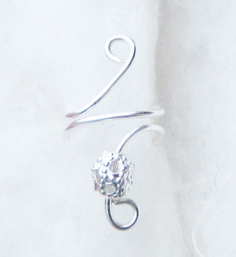 Filigree Drop Ear Cuff
