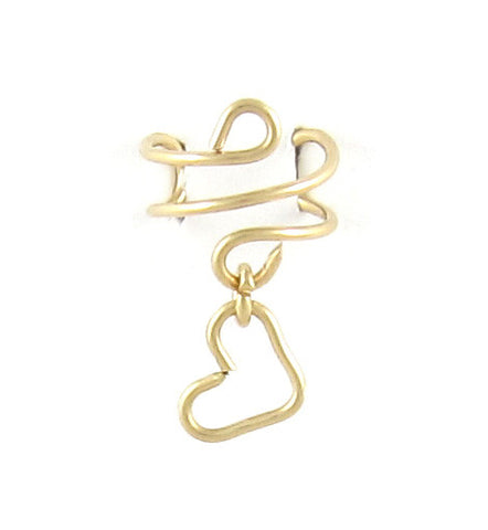 14k Gold Filled Ear Cuff w/Open Heart