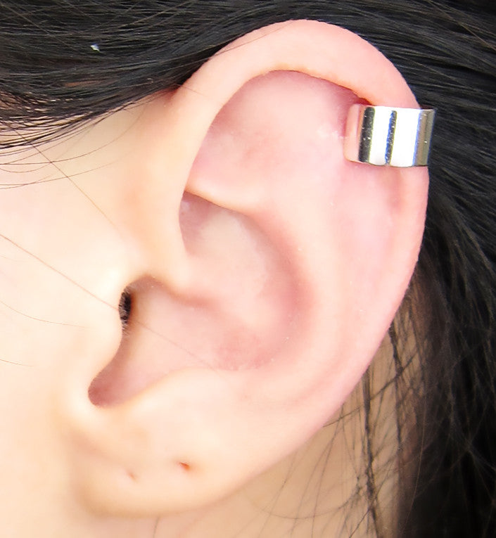 Plain Solid Ear Cuff (Gold or Silver)