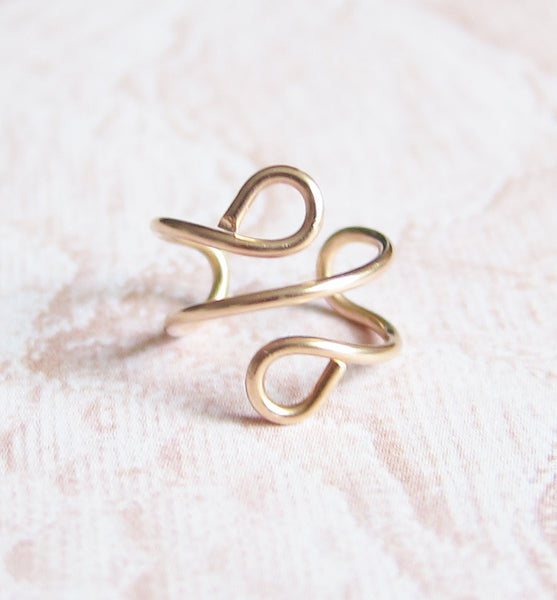 14k Rose Gold Filled Ear Cuff