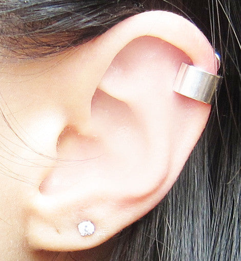 Sterling Silver Solid Band Ear Cuff