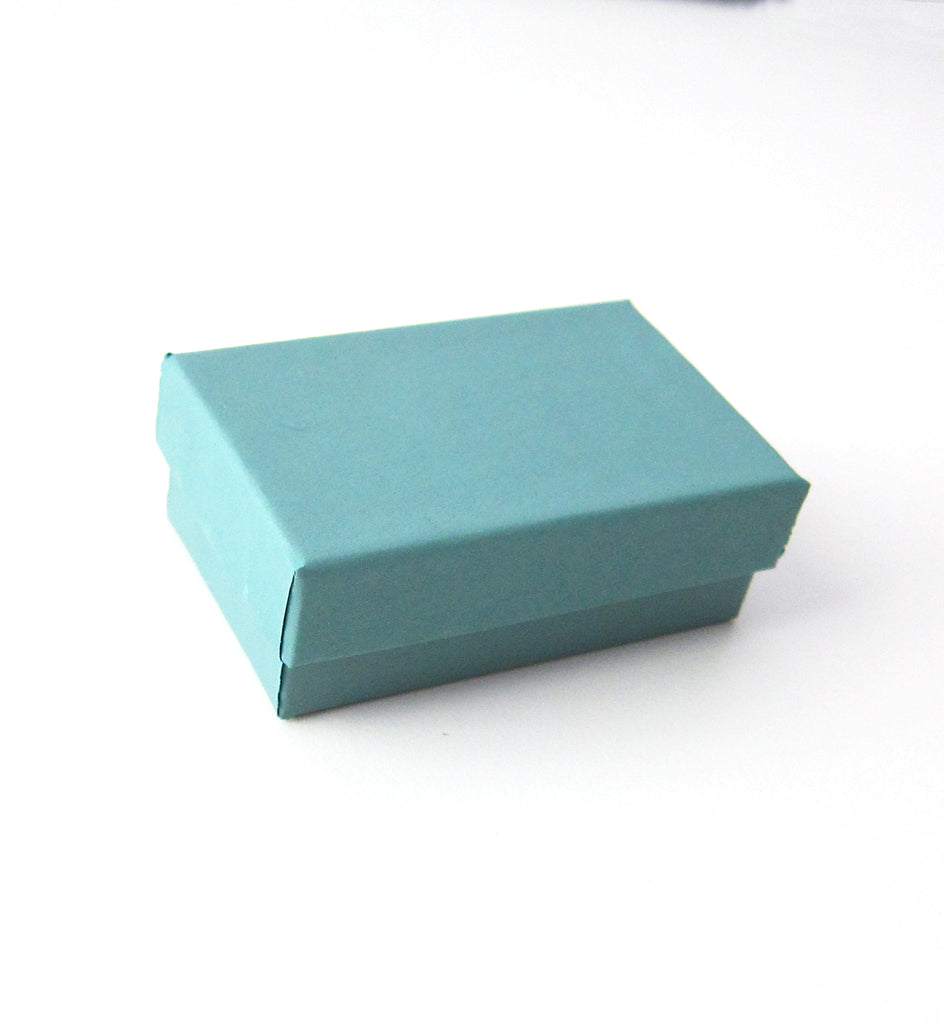 Teal Cotton-Filled Gift Boxes