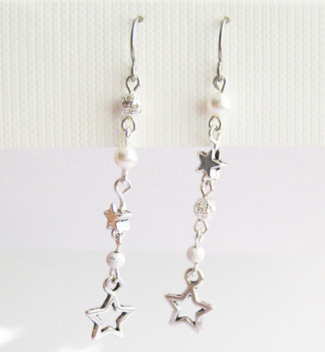 Open Star Dangle Earring