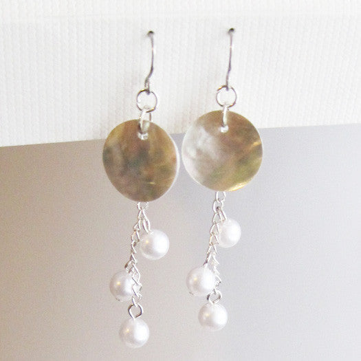 Mother of Pearl Dangle Earring