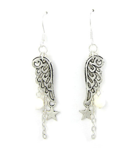 Angel Wings Star Dangle Earring