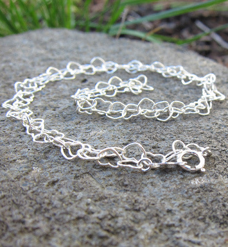 Sterling Silver Heart Chain Necklace