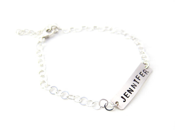 Sterling Silver Personalized ID Bracelet
