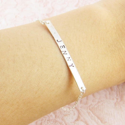 Sterling Silver Personalized Band Bracelet