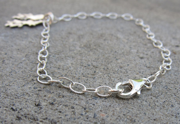Sterling Silver Personalized Couple Initial Bracelet