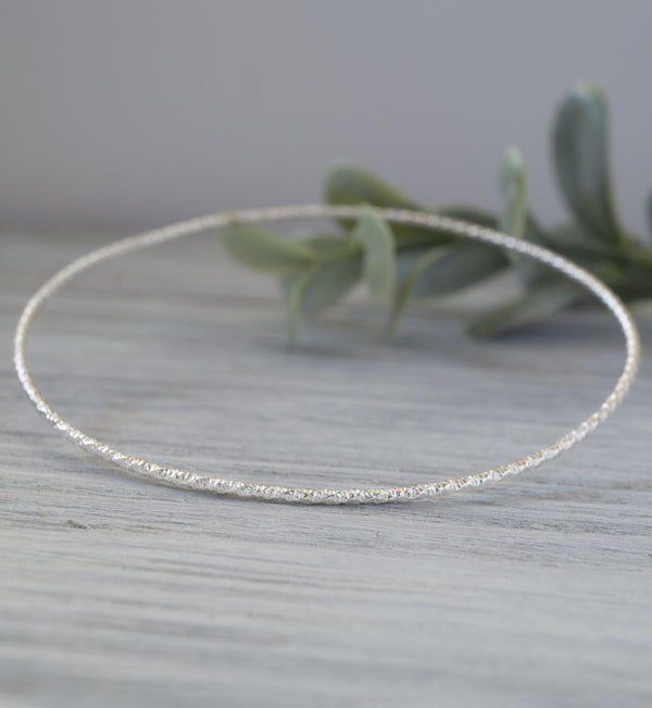 Sterling Silver Sparkle Bangle Bracelet