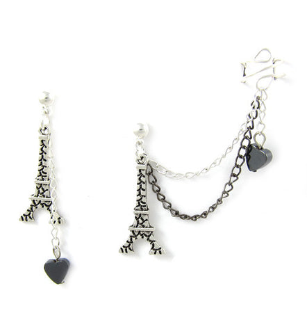 I Heart Paris Cuff Earring