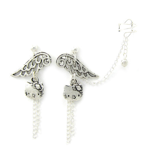 Hello Kitty Angel Wings Cuff Earring