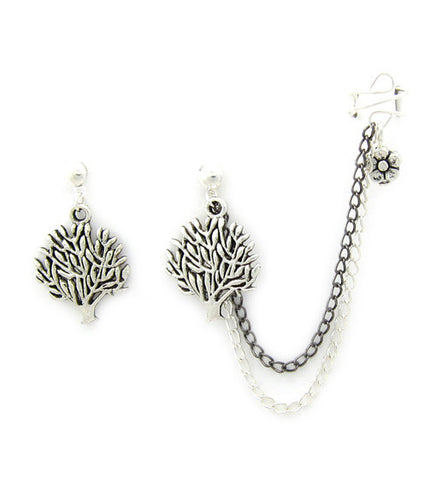 Tree Of Life Cuff Earring