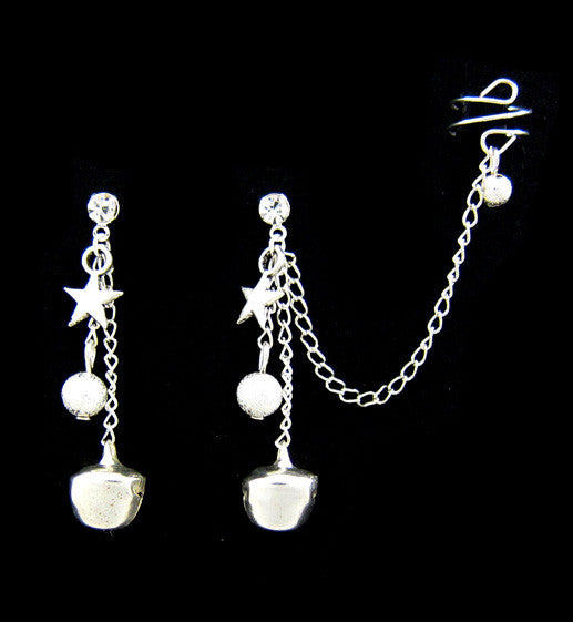 Starry Silver Bells Cuff Earring