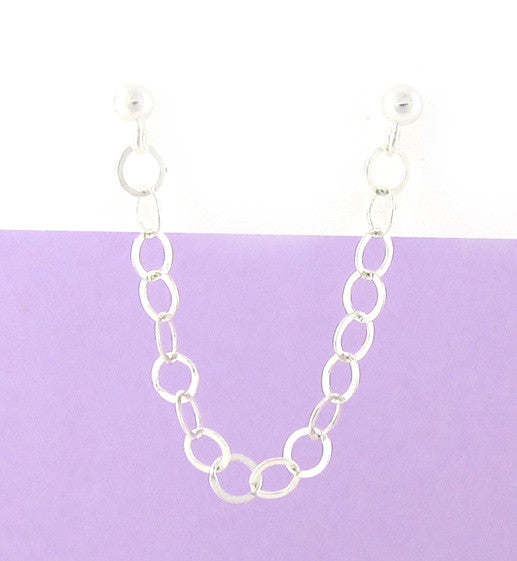 Sterling Silver Large Circle Chain Cartilage Double Piercing