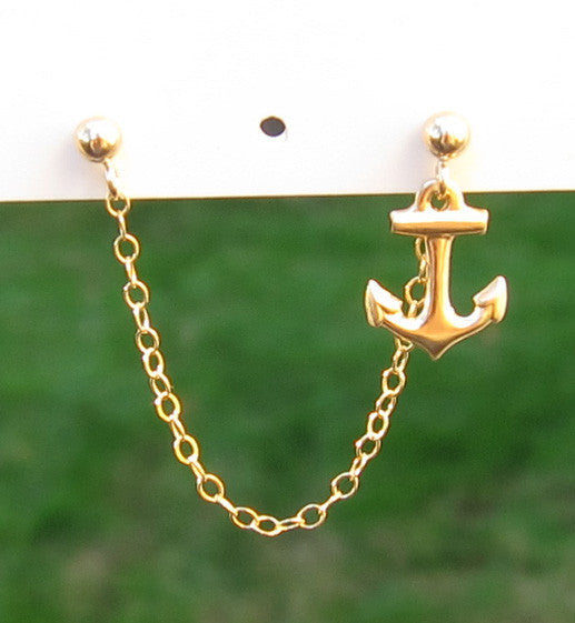 Gold Filled Single Anchor Cartilage Double Piercing