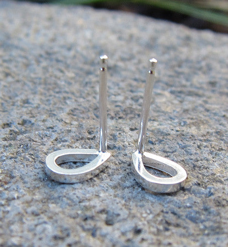Sterling Silver Tear Drop Studs