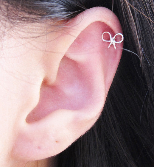 Sterling Silver Mini Bows Earring