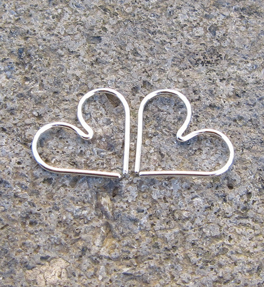 Sterling Silver Seamless Heart Earring